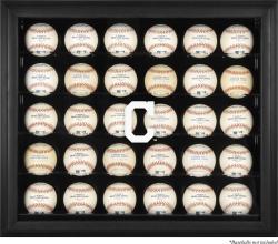 Cleveland Indians Logo Black Framed 30-Ball Display Case