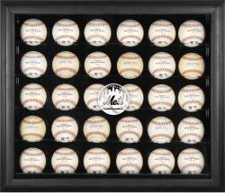 New York Mets Logo Black Framed 30-Ball Display Case