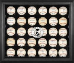 Washington Nationals Logo Black Framed 30-Ball Display Case