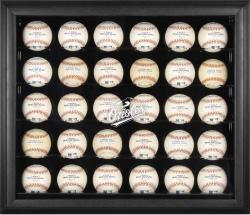 Baltimore Orioles Logo Black Framed 30-Ball Display Case