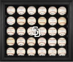 San Diego Padres Logo Black Framed 30-Ball Display Case
