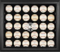 Boston Red Sox Engraved Logo Black Framed 30-Ball Display Case - Mounted Memories