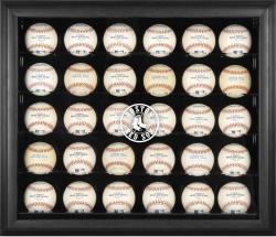 Boston Red Sox Engraved Logo Black Framed 30-Ball Display Case