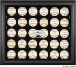Colorado Rockies Logo Black Framed 30-Ball Display Case - Mounted Memories