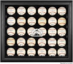 Colorado Rockies Logo Black Framed 30-Ball Display Case