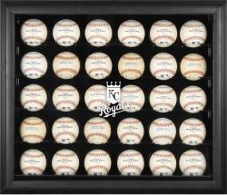 Kansas City Royals Logo Black Framed 30-Ball Display Case - Mounted Memories