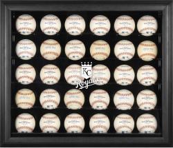 Kansas City Royals Logo Black Framed 30-Ball Display Case