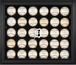 Detroit Tigers Logo Black Framed 30-Ball Display Case