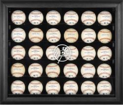 New York Yankees Logo Black Framed 30-Ball Display Case