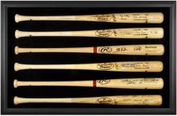 Baseball Bat Display Case with Black Frame for 6 Bats