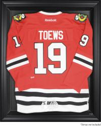 Chicago Blackhawks Black Framed Logo Jersey Display Case - Mounted Memories