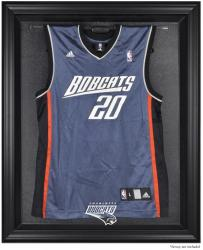Charlotte Bobcats Black Framed Team Logo Jersey Display Case - Mounted Memories