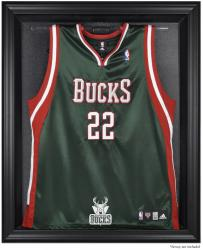 Milwaukee Bucks Black Framed Team Logo Jersey Display Case - Mounted Memories