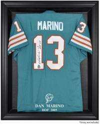 Miami Dolphins Dan Marino Hall of Fame Black Frame Jersey Case - Mounted Memories