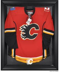Calgary Flames Black Framed Logo Jersey Display Case - Mounted Memories