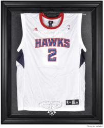 Atlanta Hawks Black Framed Team Logo Jersey Display Case - Mounted Memories