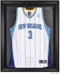 New Orleans Hornets Black Framed Team Logo Jersey Display Case - Mounted Memories