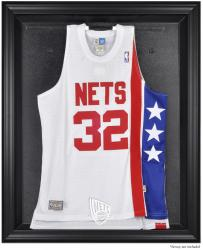 New Jersey Nets Black Framed Team Logo Jersey Display Case - Mounted Memories