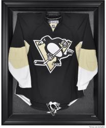 Pittsburgh Penguins Black Framed Logo Jersey Display Case - Mounted Memories
