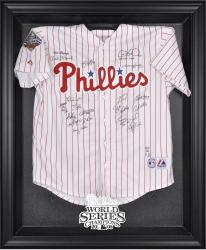 Philadelphia Phillies 2008 World Series Champions Black Framed Logo Jersey Display Case - Mounted Memories
