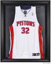 Detroit Pistons Black Framed Team Logo Jersey Display Case - Mounted Memories