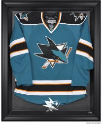 San Jose Sharks Black Framed Logo Jersey Display Case - Mounted Memories