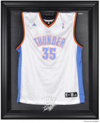 Oklahoma City Thunder Black Framed Team Logo Jersey Display Case - Mounted Memories