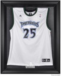 Minnesota Timberwolves Black Framed Team Logo Jersey Display Case - Mounted Memories