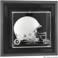 2009 BCS Champion Alabama Crimson Tide Black Framed Wall-Mountable Mini Helmet Display Case