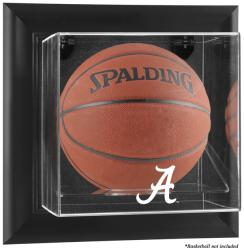 Alabama Crimson Tide Black Framed Wall-Mountable Basketball Display Case - Mounted Memories