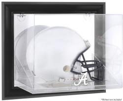 Alabama Crimson Tide Black Framed Wall-Mountable Helmet Display Case