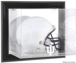 Indiana Hoosiers Black Framed Wall-Mountable Helmet Display Case