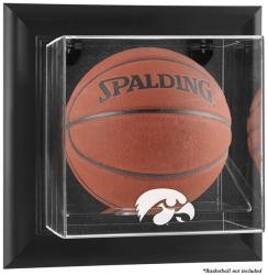 Iowa Hawkeyes Black Framed Logo Wall-Mountable Basketball Display Case