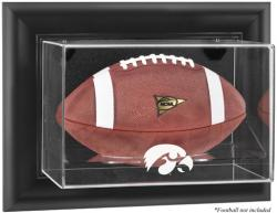 Iowa Hawkeyes Black Framed Logo Wall-Mountable Football Display Case - Mounted Memories