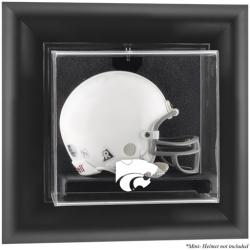 Kansas State Wildcats Black Framed Wall-Mountable Mini Helmet Display Case - Mounted Memories