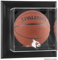 Louisville Cardinals Black Framed Logo Wall-Mountable Basketball Display Case