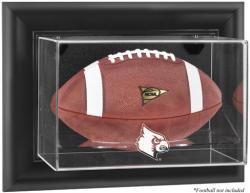 Louisville Cardinals Black Framed Logo Wall-Mountable Football Display Case