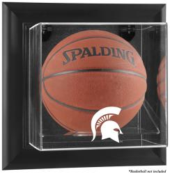 Michigan State Spartans Black Framed Wall-Mountable Basketball Display Case - Mounted Memories