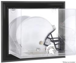 Michigan State Spartans Black Framed Wall-Mountable Helmet Display Case