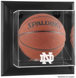 Notre Dame Fighting Irish Black Framed Wall-Mountable Basketball Display Case - Mounted Memories