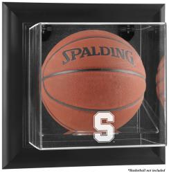 Stanford Cardinal Black Framed Logo Wall-Mountable Basketball Display Case - Mounted Memories