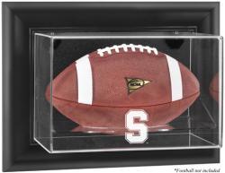 Stanford Cardinal Black Framed Logo Wall-Mountable Football Display Case