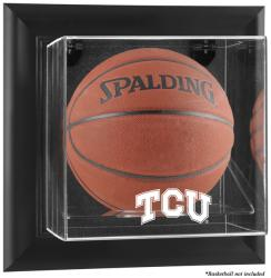 TCU Horned Frogs Black Framed Wall-Mountable Basketball Display Case