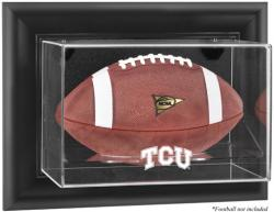 TCU Horned Frogs Black Framed Wall-Mountable Football Display Case