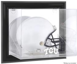 TCU Horned Frogs Black Framed Wall-Mountable Helmet Display Case