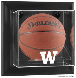 Washington Huskies Black Framed Wall-Mountable Basketball Display Case - Mounted Memories