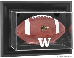 Washington Huskies Black Framed Wall-Mountable Football Display Case - Mounted Memories