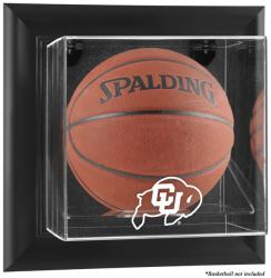Colorado Buffaloes Black Framed Wall-Mountable Basketball Display Case - Mounted Memories