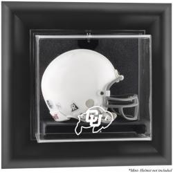 Colorado Buffaloes Black Framed Wall-Mountable Mini Helmet Display Case