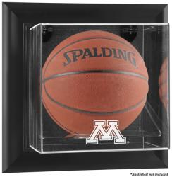 Minnesota Golden Gophers Black Framed Wall-Mountable Basketball Display Case - Mounted Memories